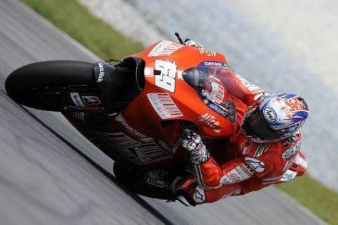 Endlich einmal ganz an der Spitze: Ducati-Neuling Nicky Hayden