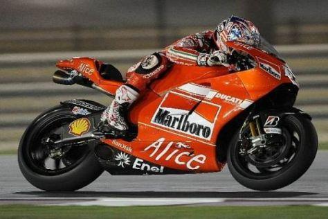 Nicky Hayden fuhr am Sonntag im Regen zu seiner ersten Ducati-Bestzeit