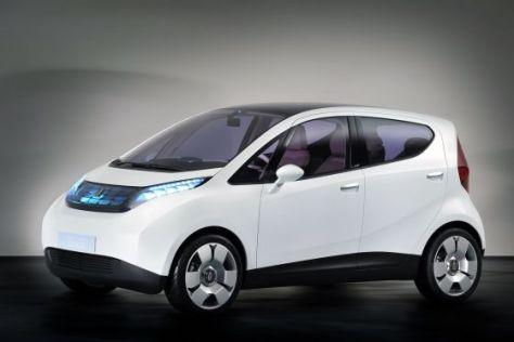 Das Bluecar von Pininfarina soll mit Elektroantrieb 250 Kilometer weit fahren.