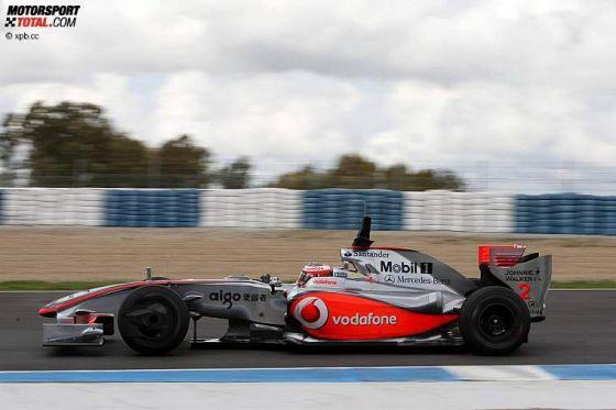 Formel-1-Testfahrten 2009, Jerez, Heikki Kovalainen McLaren Mercedes