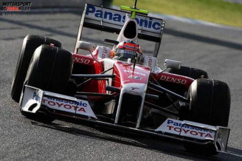 Formel-1-Testfahrten 2009, Jerez, Timo Glock, Toyota TF109