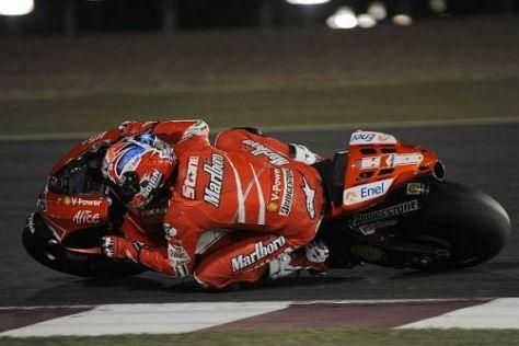 Casey Stoner stellte die beiden Yamahas in Doha klar in den Schatten