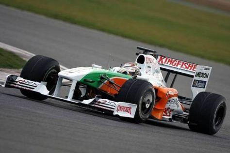2009 soll es für Adrian Sutil und Force India mit dem VJM02 klar aufwärts gehen