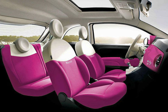 Innenraum Fiat 500 Barbie