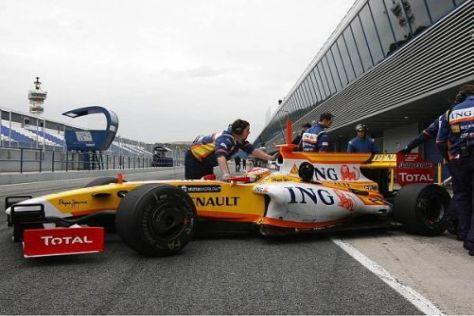 Bestzeit vor heimischem Publikum: Fernando Alonso in Jerez de la Frontera