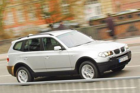 Drei SUV mit Basis-Benziner