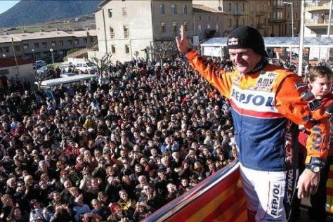 Die Stadt Avià verneigte sich vor dem zweifachen Dakar-Triumphator Marc Coma