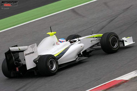 Formel-1-Testfahrten 2009, Barcelona, Jenson Button BG001