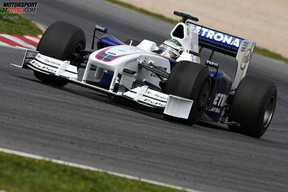 Formel-1-Testfahrten 2009, Barcelona, Nick Heidfeld BMW Sauber F1.09