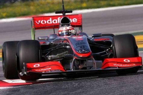 McLaren-Mercedes ist mit dem neuen Heckflügel noch nicht schnell genug