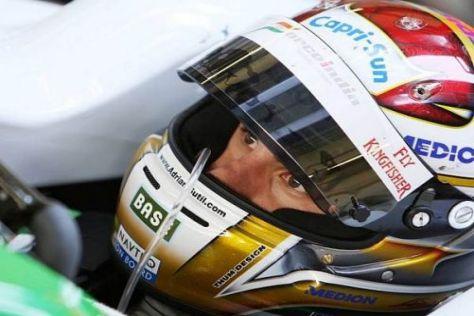 Adrian Sutil will mit dem Force-India-Mercedes ins Mittelfeld vorrücken