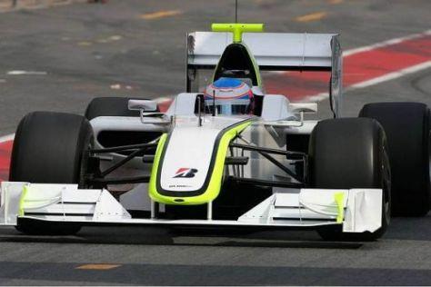 Jenson Button überzeugte beim ersten Härtetest mit dem Brawn-Mercedes