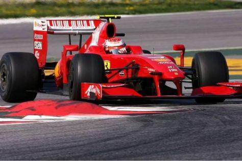 Kimi Räikkönen fuhr zwar am Dienstag nicht viel, aber dafür sehr schnell