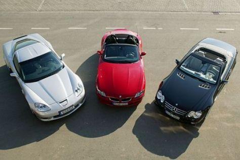 Vergleich Corvette – M Roadster – SL 55 AMG