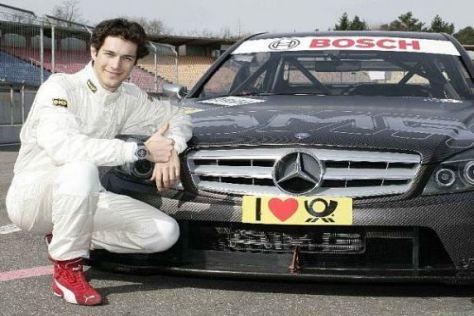 Bruno Senna hat beim Test in Hockenheim erstmals DTM-Luft geschnuppert