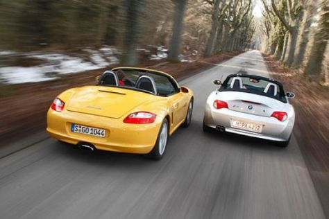 Porsche Boxster gegen BMW Z4