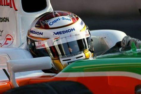 Adrian Sutil will mit Force-India-Mercedes etwas nach vorn kommen