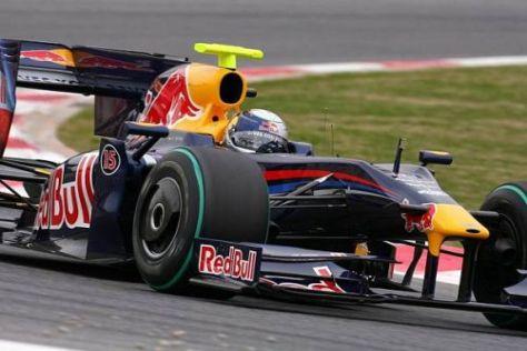 """Red Bull probierte bei den Testfahrten eine riesige """"Haifischflosse"""" aus"""