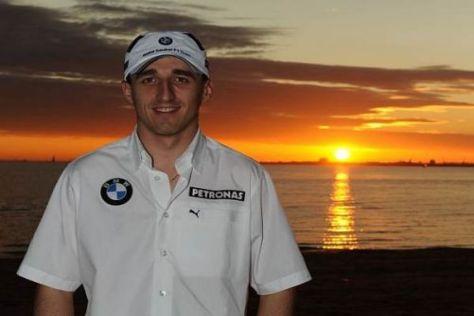 Donnerstagabend in Melbourne: Robert Kubica genießt den Sonnenuntergang
