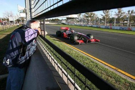 Heikki Kovalainen war im 2. Freien Training einen Tick schneller als Hamilton