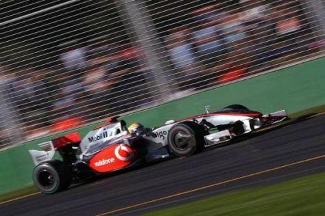 Lewis Hamiltons Ziel, in die Punkteränge zu fahren, ist durchaus kein Selbstläufer...