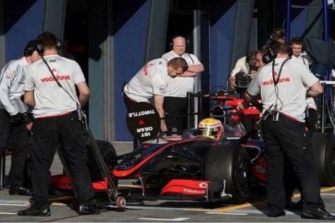 Lewis Hamilton wurde durch einen Getriebeschaden ausgebremst