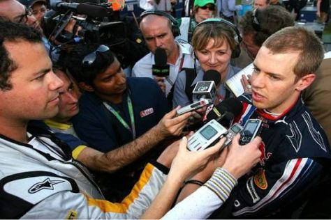 Sebastian Vettel hatte nach dem Rennen einiges zu erklären...