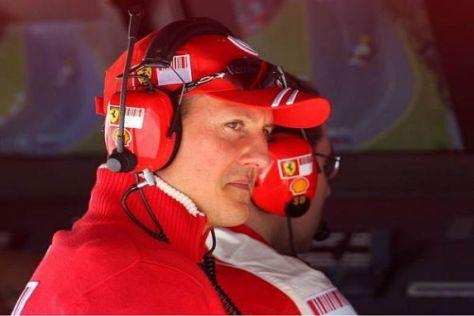 Aus Ferrari-Sicht hatte Michael Schumacher keinen Grund zur Freude