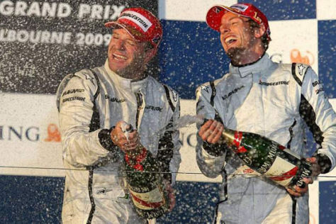 Formel 1, GP Australien 2009, Jenson Button und Ruben Barrichello, Brawn GP