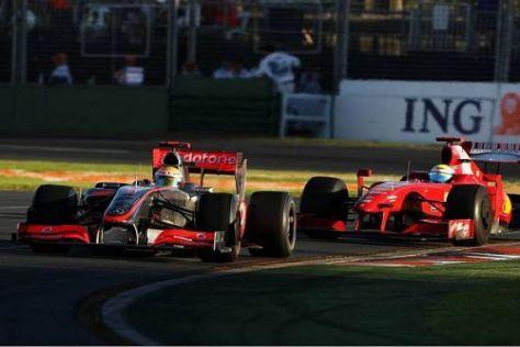 Verkehrte Welt: Eigentlich war McLaren-Mercedes schwächer als Ferrari