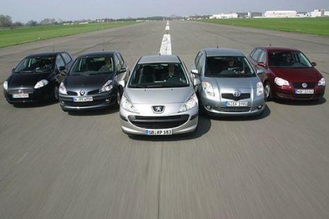 Fünf Kleinwagen