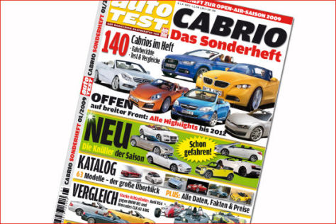 AUTOMOBIL TEST Cabrio-Sonderheft 1/2009