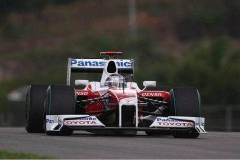 Jarno Trulli war heute um einen Tick schneller als Teamkollege Timo Glock