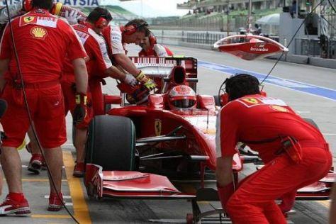 Trotz Kurzschluss im KERS war Kimi Räikkönen der Schnellste