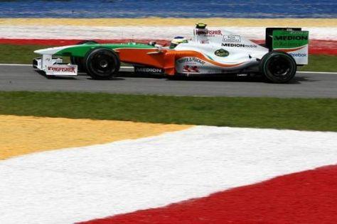 Giancarlo Fisichella war um einen Wimpernschlag schneller als Sutil