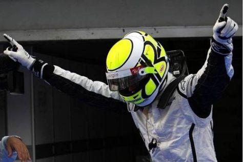 Jenson Button hat in der Saison 2009 noch eine komplett reine Erfolgsweste