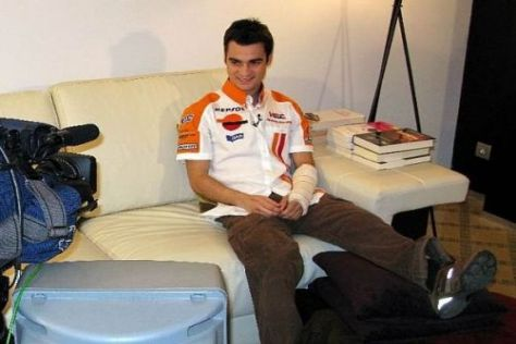 Die Zeit im Krankenlager ist vorbei: Dani Pedrosa kann in Katar fahren