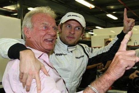 John und Sohn Jenson Button konnten 2009 schon zwei Siege ausgiebig feiern