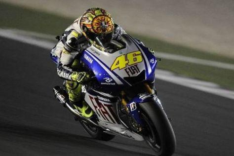 Valentino Rossi deutete das Siegpotenzial der Yamaha in Katar an
