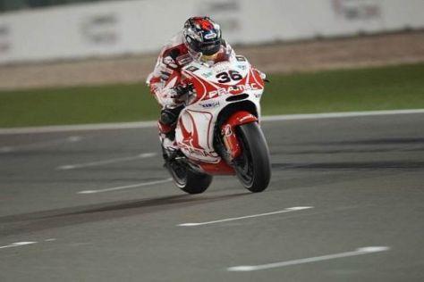 Mika Kallio holte bei seinem MotoGP-Debüt einen starken achten Platz