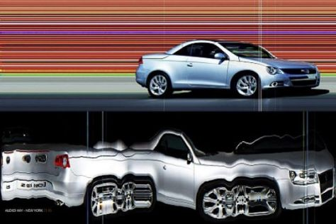 VW Eos als Fotomodell