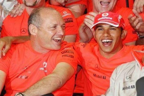 Ron Dennis und Lewis Hamilton in besseren Tagen