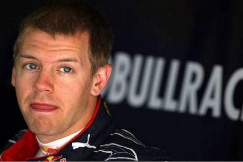 Sebastian Vettel war wegen eines Problems zum Zuschauen verdammt