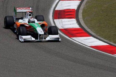 Adrian Sutil war einen Hauch schneller als Teamkollege Giancarlo Fisichella