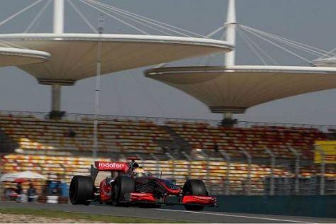 Aller Anfang ist schwer: Lewis Hamilton stellte den Silberpfeil in die Top 10