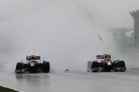 Der Schreckmoment: Buemi kracht in das Heck von Vettels Auto