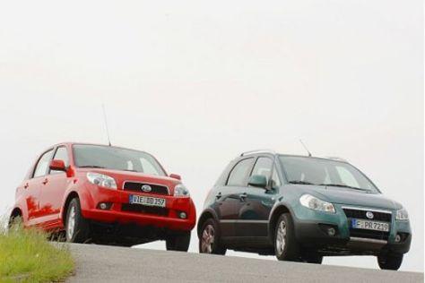 Test: Daihatsu Terios gegen Fiat Sedici