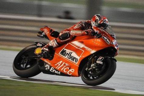 Casey Stoner versuchte bereits in Katar, mit seinem Benzin auszukommen