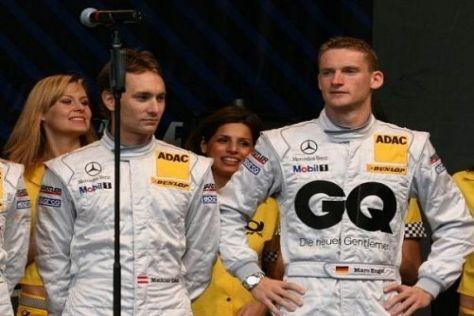 Wieder dabei: Mathias Lauda und Maro Engel bei der DTM-Präsentation 2009