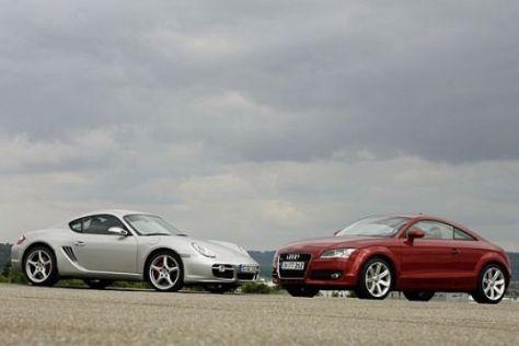Vergleichstest Audi TT - Porsche Cayman S